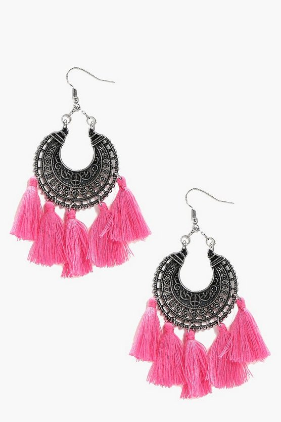 Tara Boho Tassel Earrings