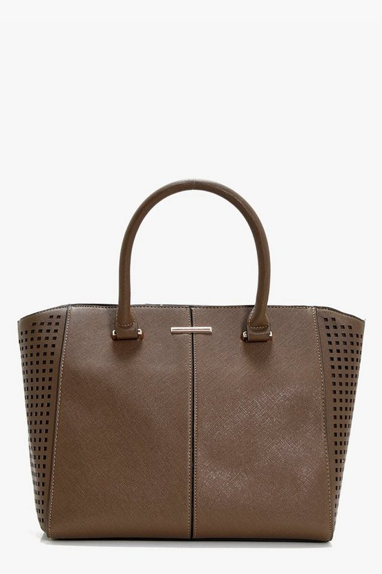 Tia Perforated Wings Tote