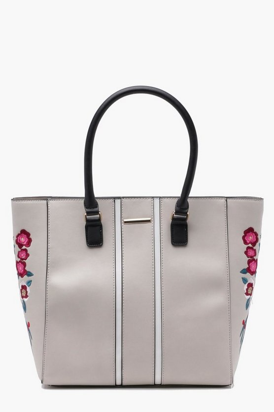 Nancy Embroidery Wings Structured Tote