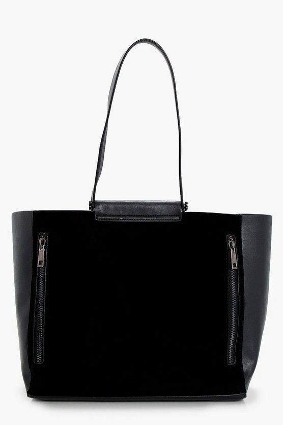 Lucy Zips Textured Tote