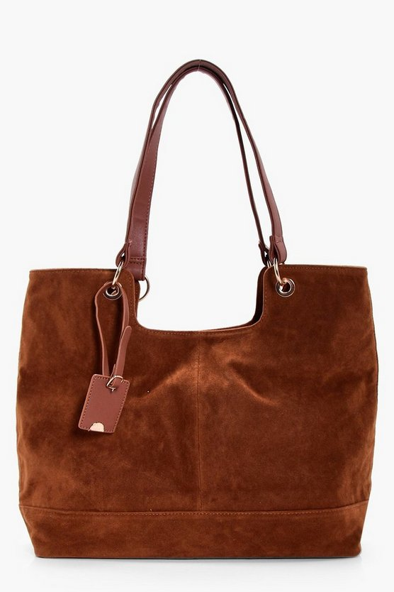 Suedette Shoulder Bag