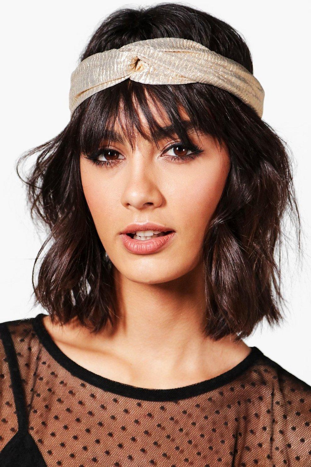 Sophie Metallic Twist Knot Turban Headband  0bd8cf11a00