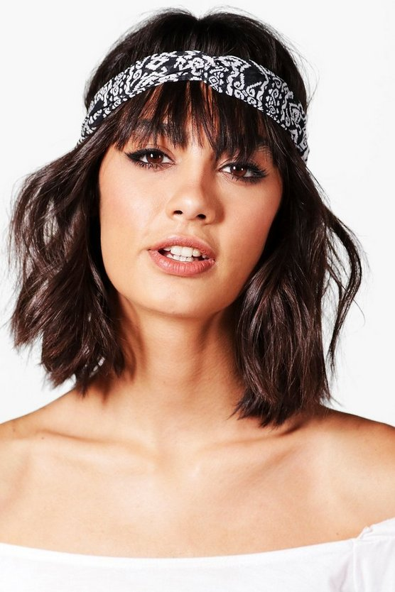 Amy Aztec Print Twist Knot Headband