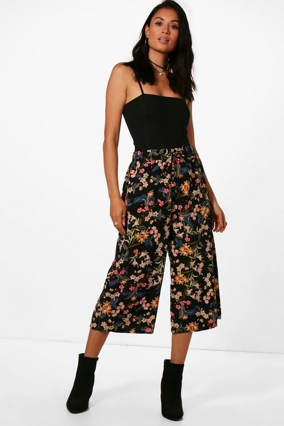 Paloma Printed Woven Wide Leg Culottes