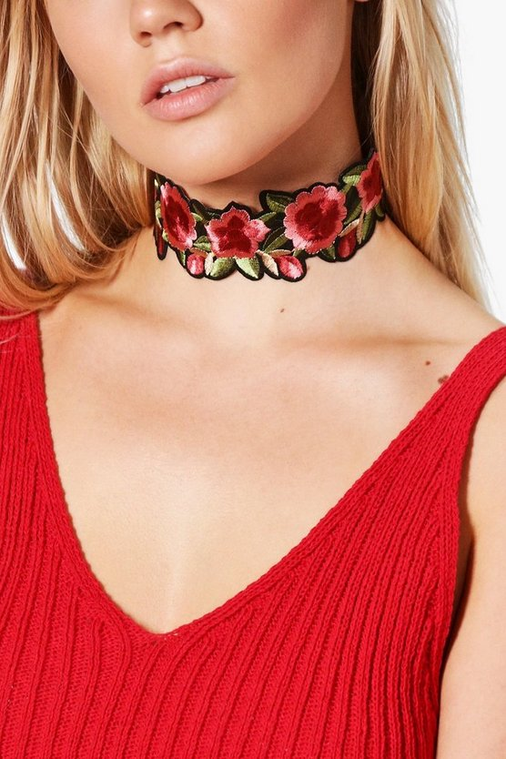 Hannah Floral Embroidered Choker