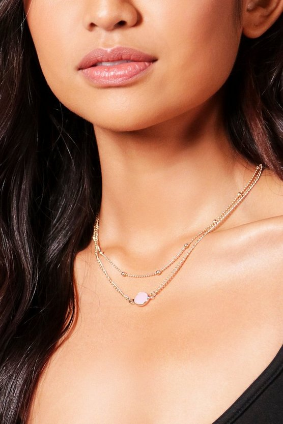 Sarah Moon Stone Layered Chain Choker