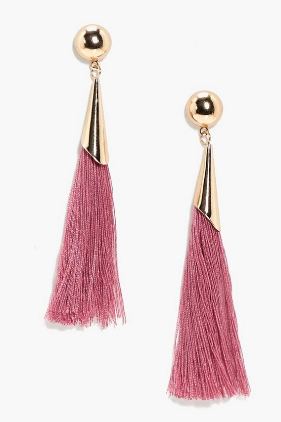 Fran Simple Tassel Earing