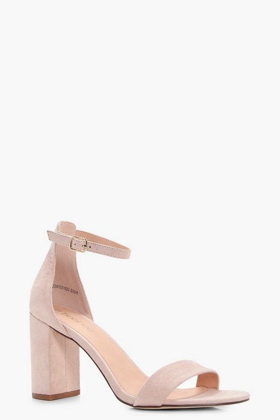 Womens Blush Block Heel 2 Part Heels