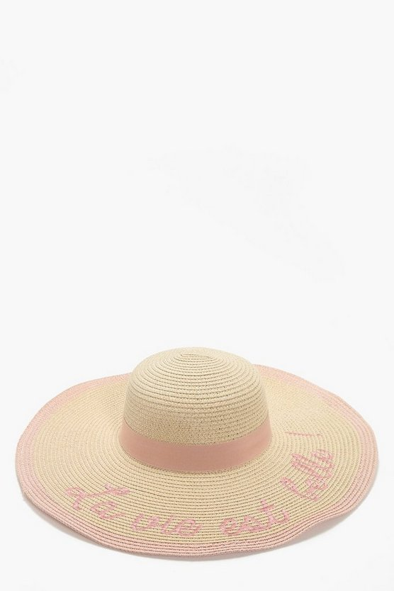 Sally Slogan Summer Floppy Hat