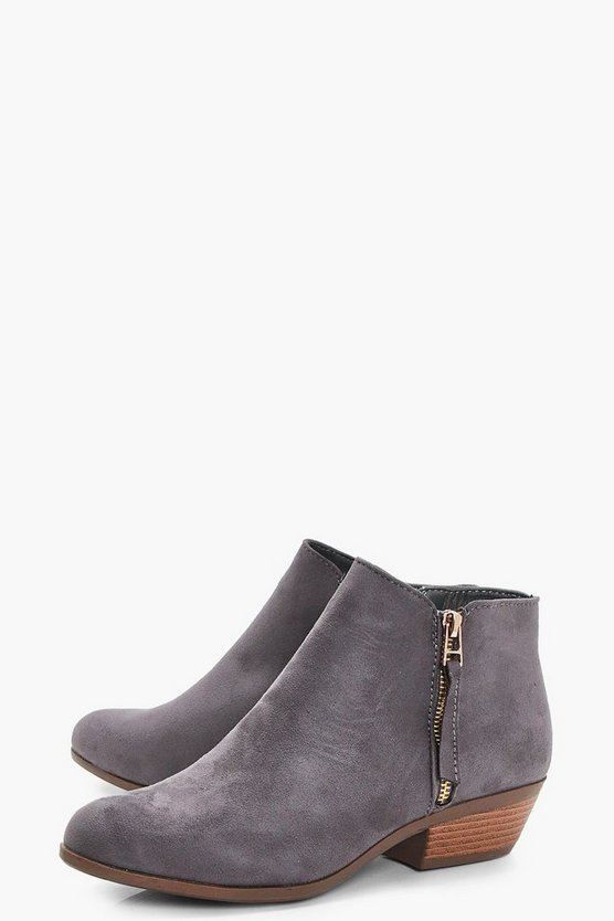 Zip Trim Chelsea Ankle Boots