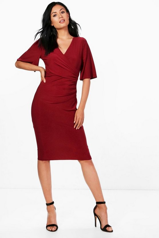Gathered Waist Midi Dress