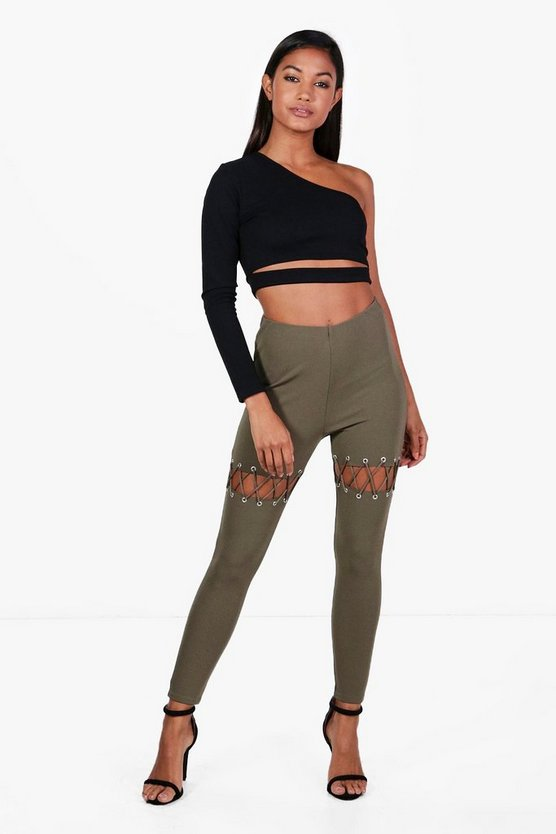 Astoria Eyelet Lace Up Stretch Trousers