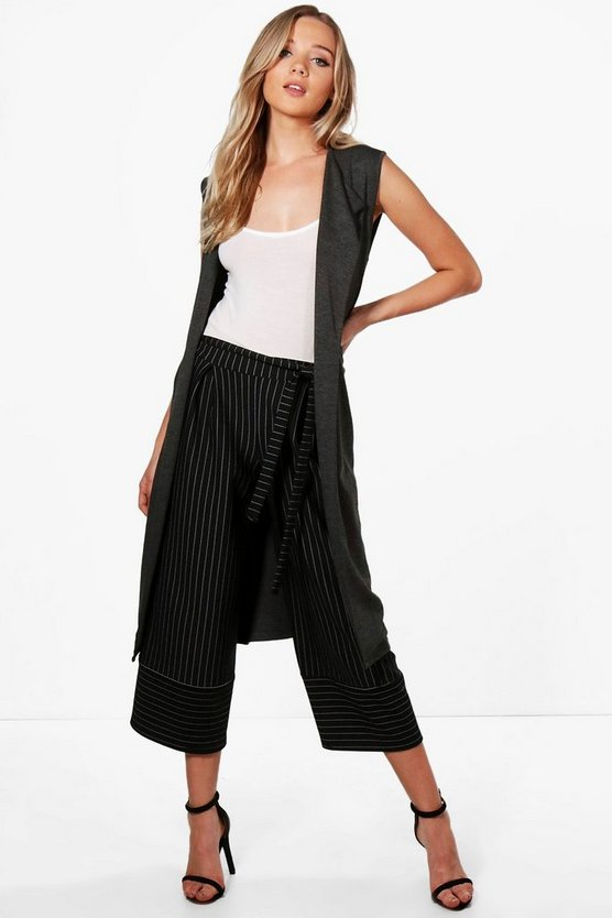 Brooke Sleeveless Belted Duster