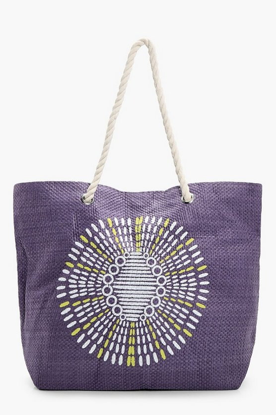 Rosie Printed Beach Bag