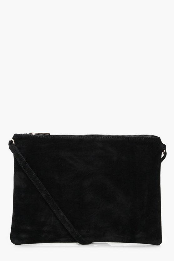 Suedette Cross Body Bag