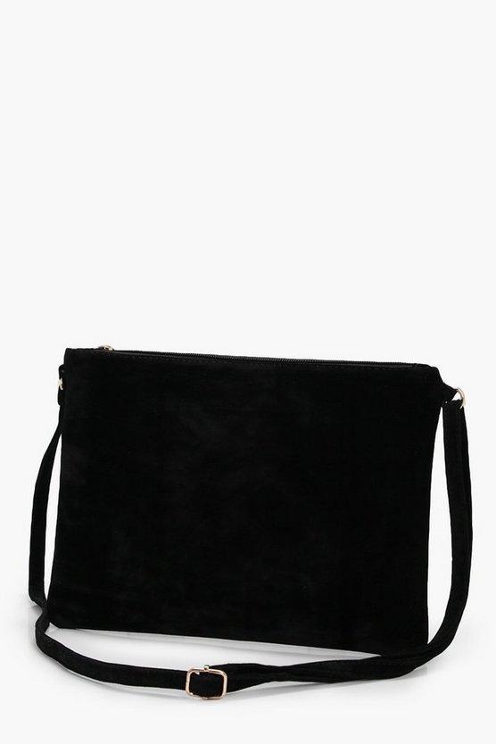 Suedette Cross Body Bag