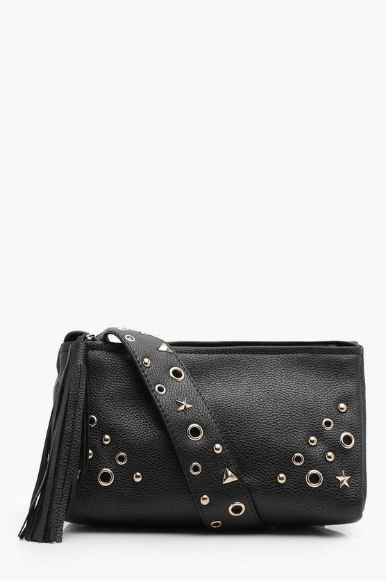 Rosie Metal Star & Bolt Cross Body Bag