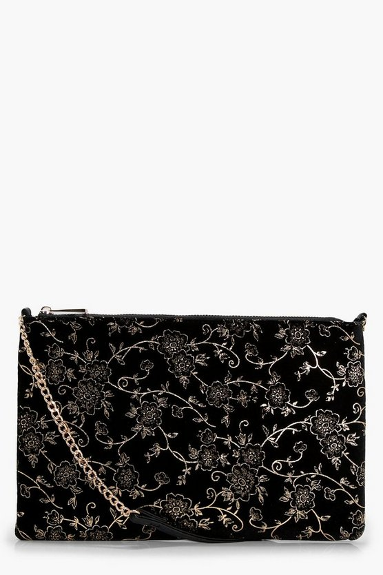 Heather Velvet Baroque Cross Body Bag