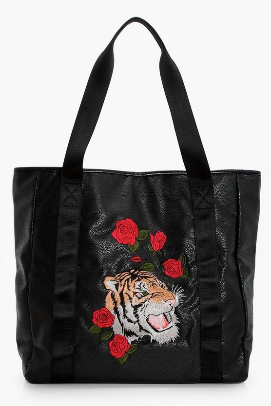 Oriental Embroidery Shopper Bag