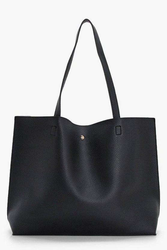 Large Popper Tote Shopper Bag