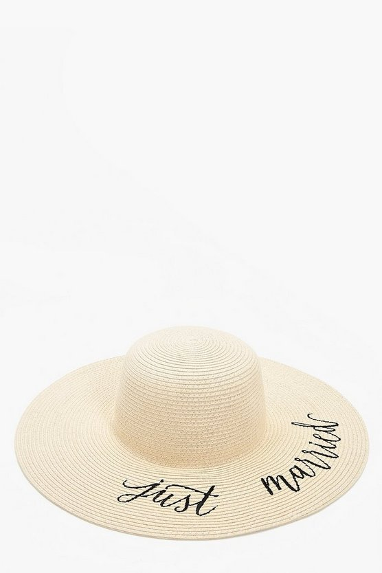 Just Married Straw Hat