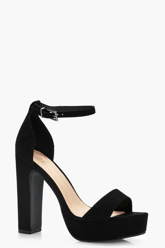 Amy Wide Fit Platform 2 Part Heels