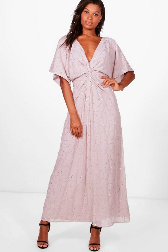 Boutique Twist Front Batwing Maxi Dress
