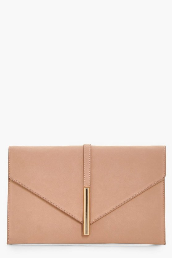 Metal Rod Envelope Clutch