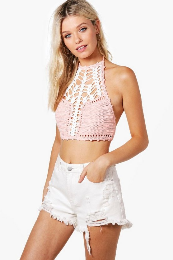 Lisa Halterneck Crochet Crop