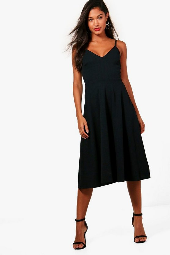 Mona Strappy MidiSkater Dress