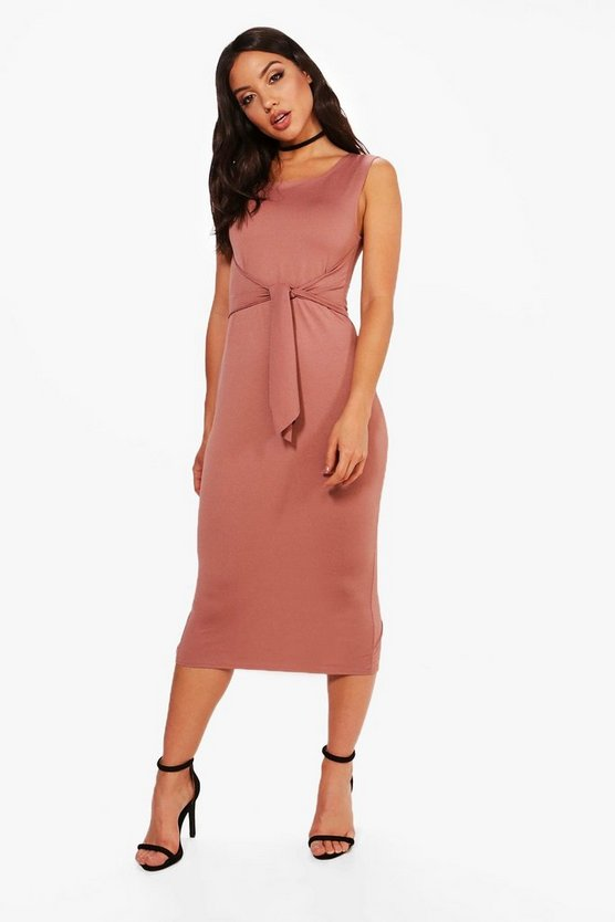 Jess Tie Front Detail Midi Dress