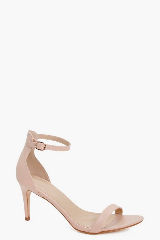 Womens Nude Mid Heel 2 Parts