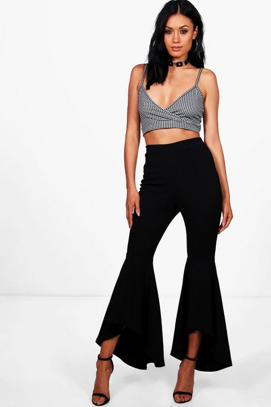 Ruffle Wide Leg Trousers