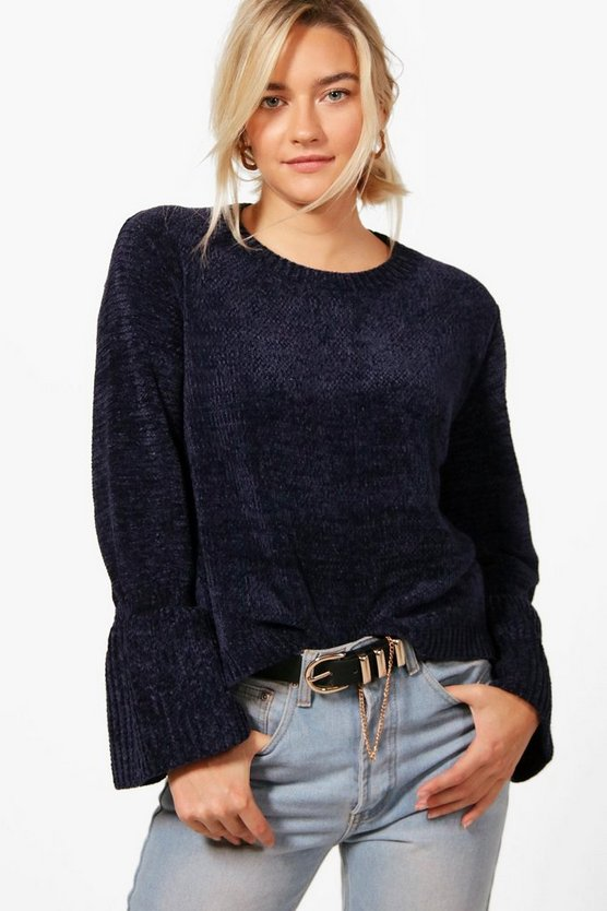 Lily Flare Sleeve Chenille Jumper