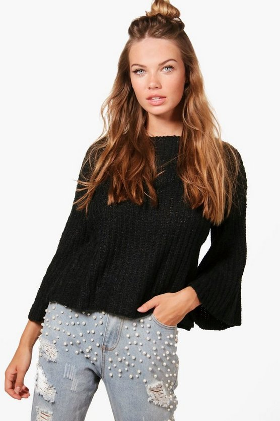 Daisy Flare Sleeve Big Knit Jumper