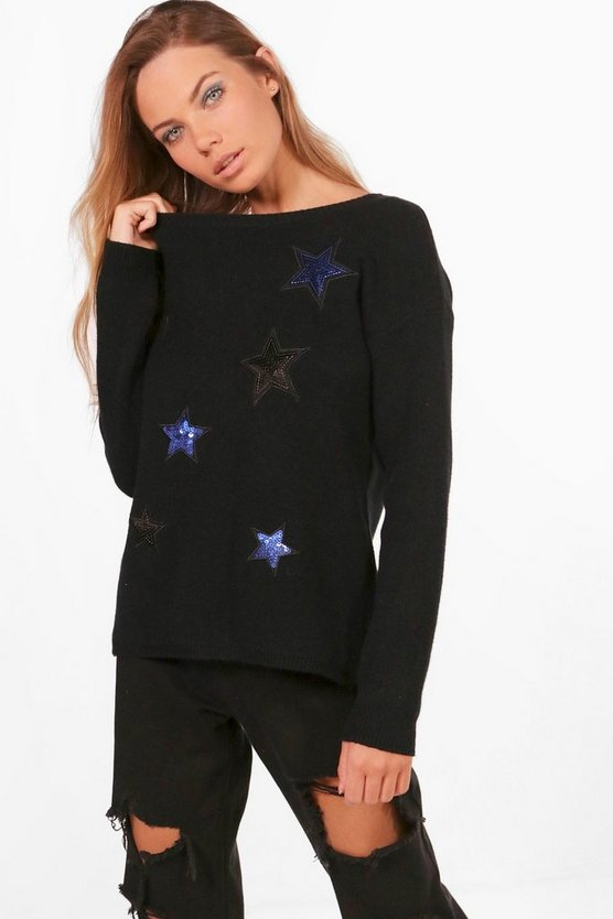 Sarah Sequin Star Jumper