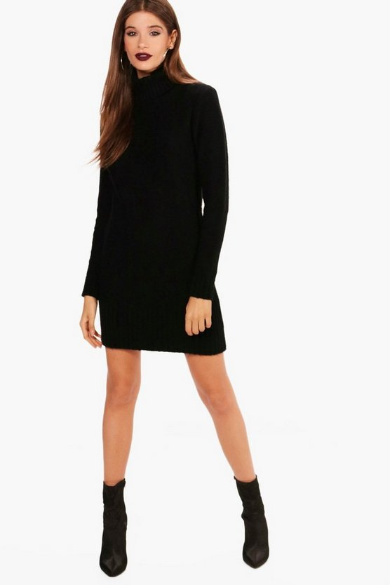 Jessica Roll Neck Mini Jumper Dress