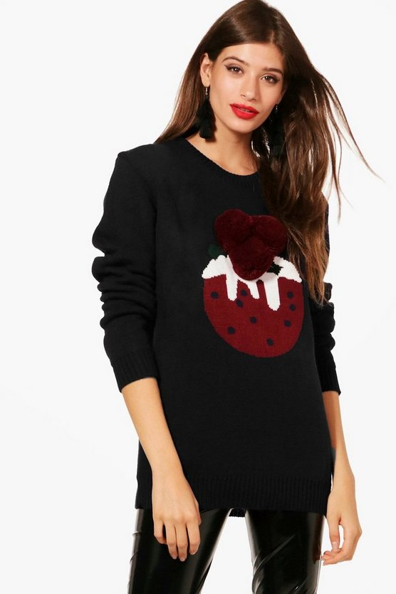 Paige Pom Pom Xmas Pudding Christmas Jumper