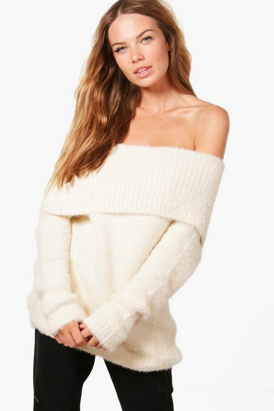 Louise Soft Knit Bardot Jumper