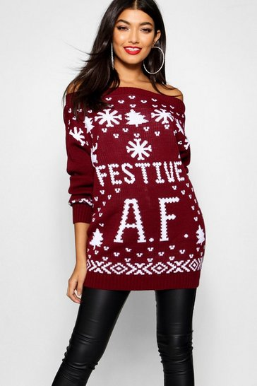 Wine Festive A.F Christmas Jumper