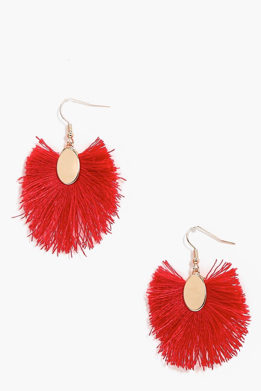 Favoloso nicole orecchini con frange e nappine | Boohoo CT64