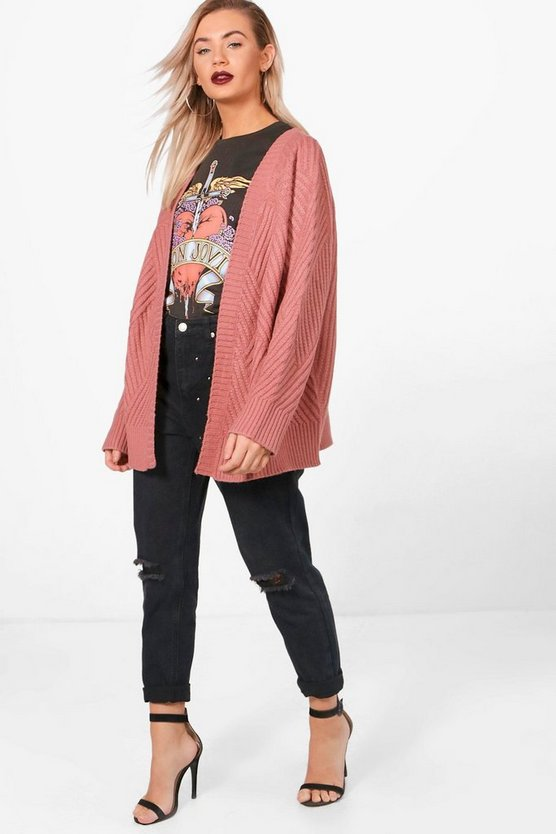 Keeley Contrast Rib Edge to Edge Cardigan
