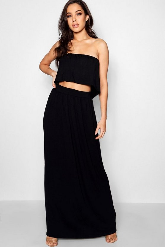 Annie Bandeau Crop & Maxi Skirt Co-ord