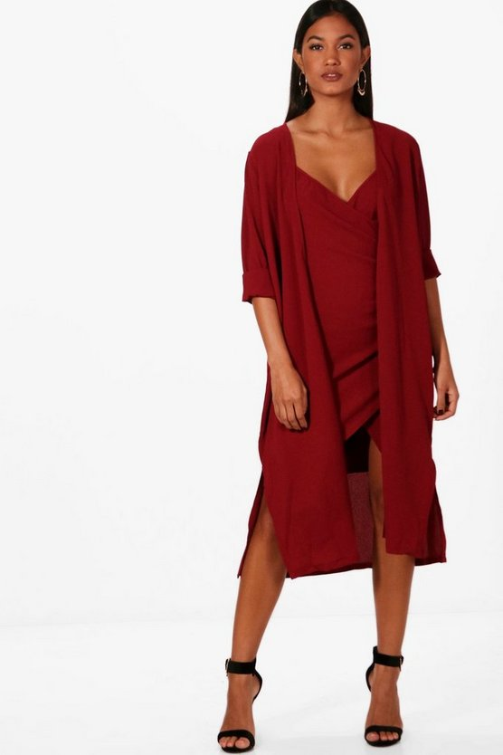 Woven Wrap Dress & Duster Co-ord