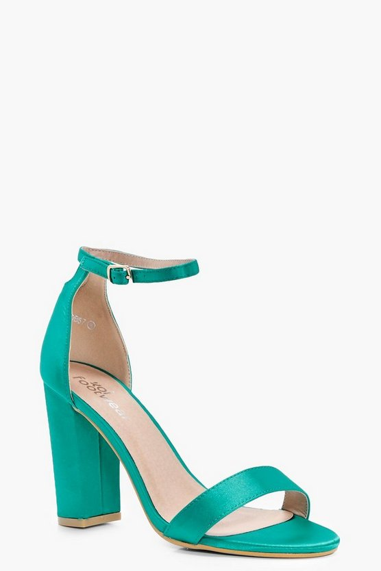 Eloise Satin Block Barely There Heel