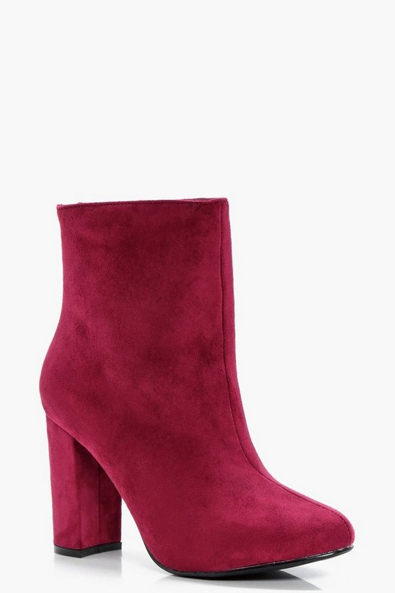 Heeled Ankle Sock Boots
