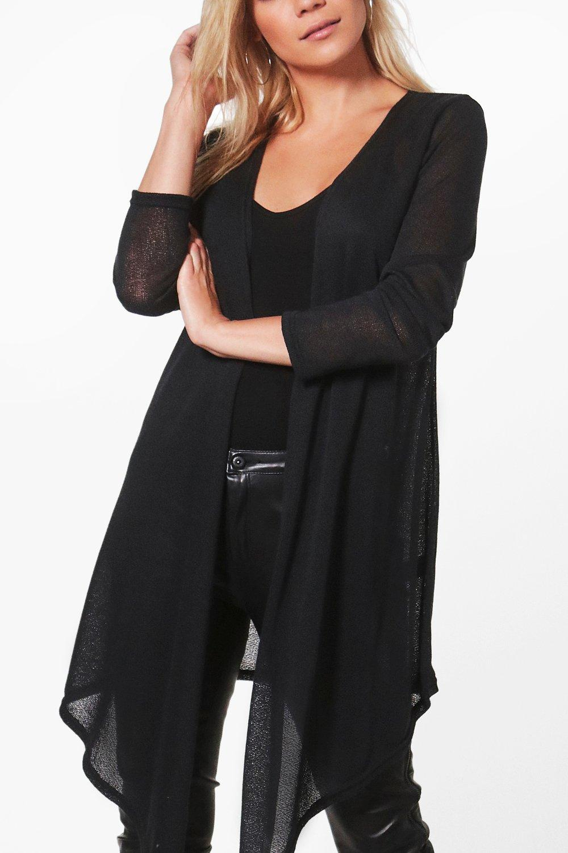 Boohoo Womens Becca Soft Knit Midi Waterfall Cardigan in Blush ...