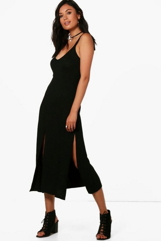 Strappy Split Midi Dress