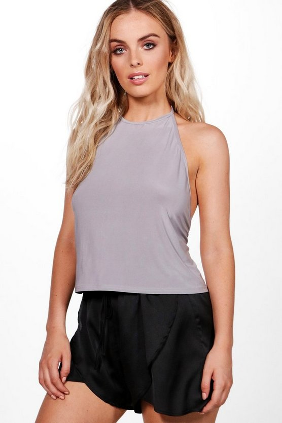 Alice Open Back High Neck Top