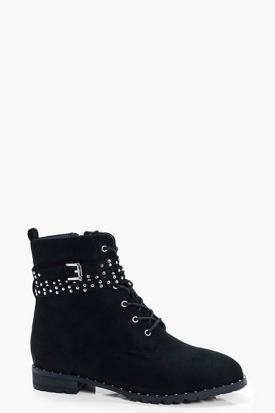 Pin Stud Hiker Boot